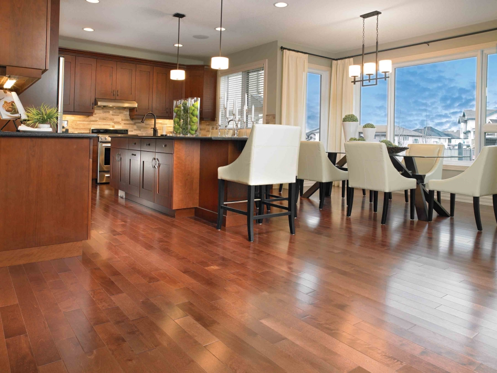 An example of our hardwood flooring in Albany, Oregon