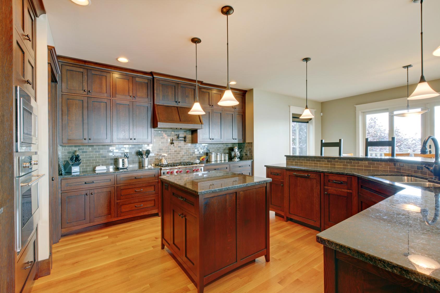 Beautiful hardwood kitchen floor